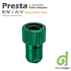 อะแดปเตอร์แปลงหัวสูบลมจุ๊บเล็กแบบเพรสต้า PRESTA F/V เป็น A/V 2 ชิ้น Green PS-GX2