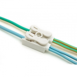 ขั้วต่อสายไฟ เทอมินอลต่อสายไฟ ขั้วต่อสายคอนโทรล ลูกเต๋าเชื่อมต่อสายไฟ 2 ช่อง OOP ZQ-2P 1 ชิ้น Wire Terminal Block Connector
