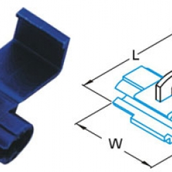 ตลับหนีบสาย 18-14 A.W.G. 0.75-2.5mm2 878101 SS 2.5 T-Lug Quick Splice Connectors KST