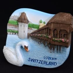 สะพานไม้ ลูเซิร์น สวิตเซอร์แลนด์, Kapellbrucke and Wasserturm, Lucerne Switzerland