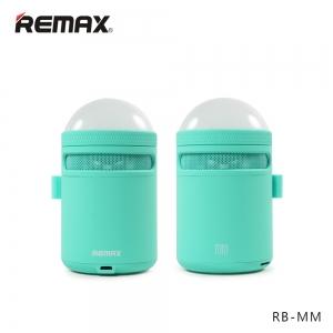 ลำโพงบลูทูธ Remax RB-MM เบสแน่นตื้ดๆ LED เปลี่ยนสีไปเรื่อย BLUE สีน้ำเงิน