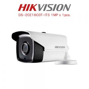 กล้องวงจรปิด Hikvision Turbo HD HDTVI Camera DS-2CE16C0T-IT3 HD720P 1MP