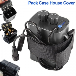กล่องแบตเตอรี่ ไฟจักรยาน 8.4V 18650 X 6 BB-X6 Waterproof Battery Storage Pack Case House Cover USB DC Port for Bicycle Bike Lamp Light