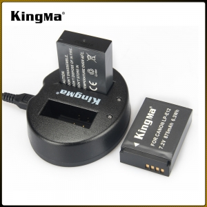 แท่นชาร์จ CANON LP-E12 Camera Battery Double USB Charger Kingma BM015-LPE12 Kingma