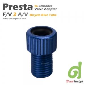อะแดปเตอร์แปลงหัวสูบลมจุ๊บเล็กแบบเพรสต้า PRESTA F/V เป็น A/V 2 ชิ้น Blue PS-BLX2