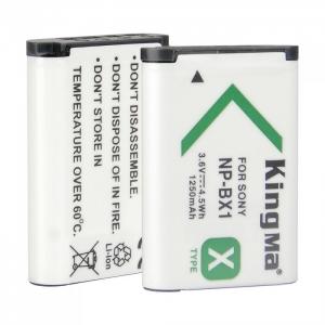 แบตเตอรี่กล้อง Sony NP-BX1 Kingma 1250 mAh 3.6V, 4.5 Wh Li-ion battery