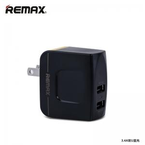 ที่ชาร์จไฟ 2 ช่อง REMAX Charger Dual USB 3.4A - Black ดำ