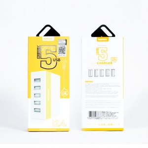 Remax USB Charger 5 USB Hub RU-U1 - Yellow สีเหลือง