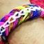 หนังยางถัก Loom Band เรืองแสง(Glow in the dark )/ Pink 100% Silicone 600 เส้น(GP) thumbnail 9