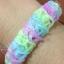 ยางถัก 100% ซิลิโคน Glitter Loom Bands / Violet 600 เส้น (GLV) thumbnail 2