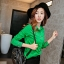 เสื้อเชิ้ตสีพื้นตัวโปรด ปกประดับพลอยเป็นรูปดอกไม้ สีชมพู(Pink) thumbnail 5
