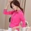 เสื้อเชิ้ตสีพื้นตัวโปรด ปกประดับพลอยเป็นรูปดอกไม้ สีชมพู(Pink) thumbnail 3