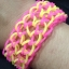 หนังยางถัก Loom Band เรืองแสง(Glow in the dark )/ Pink 100% Silicone 600 เส้น(GP) thumbnail 4