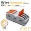 ขั้วต่อสายไฟ เทอมินอลต่อสายไฟ ขั้วต่อสายคอนโทรล ลูกเต๋าเชื่อมต่อสายไฟ 6 ช่อง OOP SPL-3 PCT-213 222-413 0.08 -2.5 sq.mm 1 ชิ้น Wire Terminal Block Connector