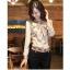 เสื้อหางกระรอกผูกโบว์ สีเบจ thumbnail 1