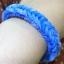 ยางถัก 100% ซิลิโคน Loom Band รุ่นกากเพชร/Glitter Blue 600 เส้น (GLB) thumbnail 2