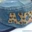 หมวกทรงทหารยีนส์เข้ม ปัก AXE thumbnail 3