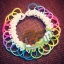 100% Silicone Loom Bands Glow in the dark เรืองแสงสีขาว 600 เส้น (GW) thumbnail 2
