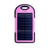 แบตเตอรี่สำรอง OOP 50000mAh ไฟฉาย LED Solar Charge - Pink Black