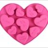 แม่พิมพ์ซิลิโคน รูปหัวใจ 10 ช่อง