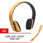 หูฟังบลูทูธ OOP QC35 Super Bass bluetooth 4.1 + Microphone - Gold สีทอง