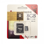 Kingston Micro SDHC Card Class 10 8GB with Adapter
