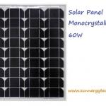 แผงโซล่าเซลล์ ชนิด mono-crystalline ขนาด 60W