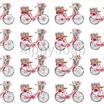 กระดาษเดคูพาจ ปริ้นบาง 14gram A4 จักรยาน