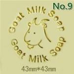 แสตมป์สบู่รูปแพะ Goat Milk Soap