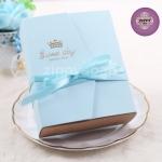 กล่องกระดาษ bookสีฟ้า พร้อมโบว์ 10.3*13*4 cm 10 ชิ้น