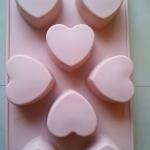 แม่พิมพ์ รูปหัวใจ 8 ช่อง 80 g 5*6*3 cm