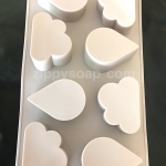 แม่พิมพ์ซิลิโคน รูปก้อนเมฆ + หยดน้ำ 6 ช่อง