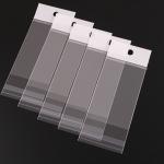 ถุงพลาสติกแถบขาวมีรูแขวนแบบมีเทปกาว 20x31.5 cm. 100 ชิ้น