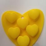 แม่พิมพ์ รูปหัวใจ 6 ช่อง 25g