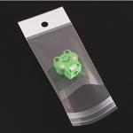 ถุงพลาสติกแถบขาวมีรูแขวนแบบมีเทปกาว 9x16 cm. 100 ชิ้น
