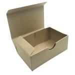 กล่องสบู่รักษ์โลก ใส่สบู่ได้ตั้งแต่ 70-120 กรัม พับขึ้นรูปง่าย : แพค 50 ใบ