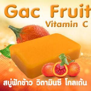 ราคาส่ง Glycerin Soap สบู่ฟักข้าว วิตามินซี โกลเด้น Gac Fruit Vitamin C Golden Soap
