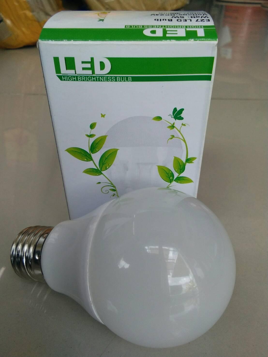 หลอดไฟ LED E27 Bulb ขนาด 3W 12V 6000K PL