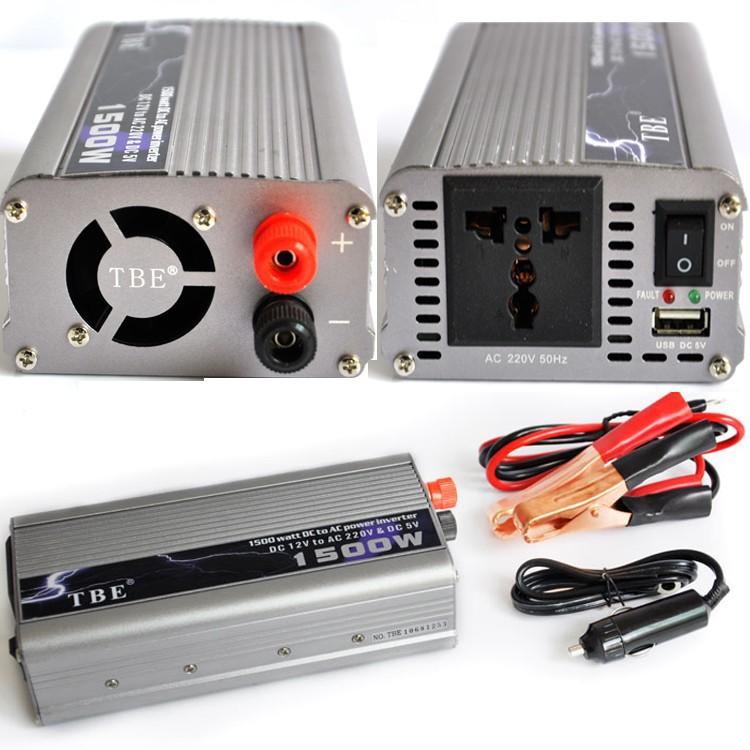 Inverter (หม้อแปลงไฟฟ้า) รุ่น MSW-1500W 12V TBE