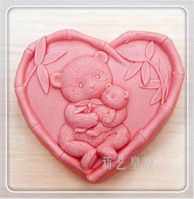 แม่พิมพ์ รูปหัวใจหมีแพนด้า 120g
