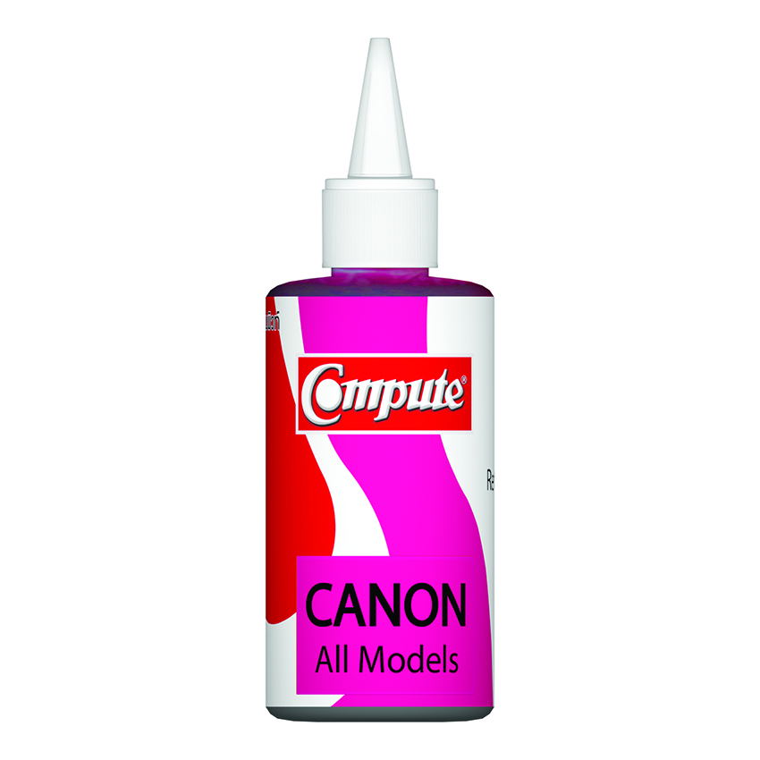 น้ำหมึกเติม (Refill Inkjet) คอมพิวท์ For CANON All model, G-Series (Magenta)