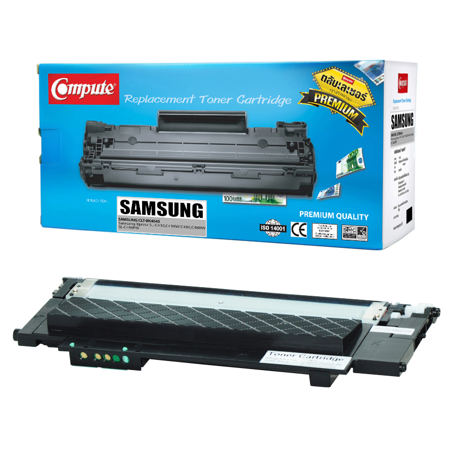 ตลับหมึกเลเซอร์สีดำ Compute Samsung CLT-K404S ( Black) Toner Cartridge