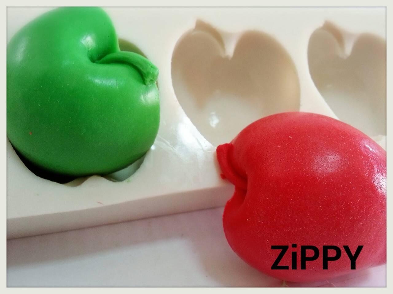 แม่พิมพ์ซิลิโคน แอ๊ปเปิ้ล apple 5 ช่อง 100g