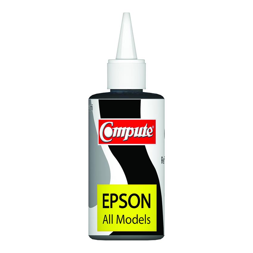 น้ำหมึกเติม (Refill Inkjet) คอมพิวท์ For EPSON All model สีดำ