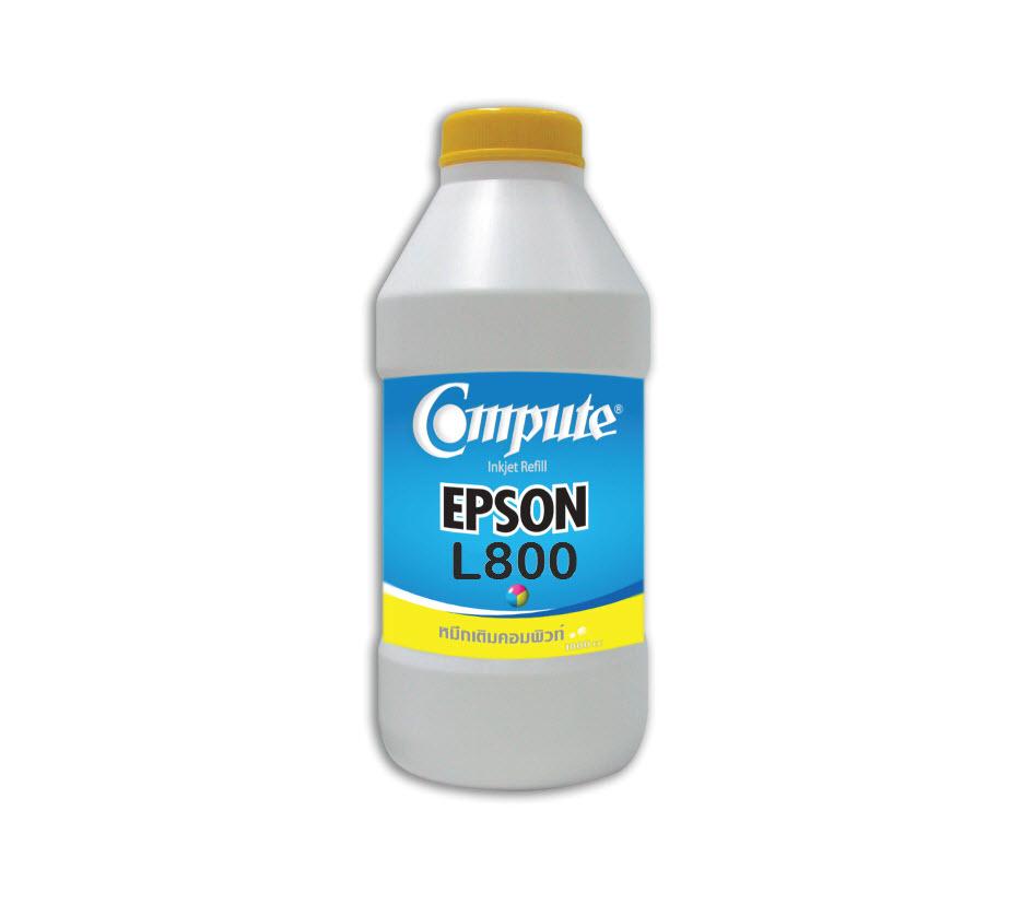 น้ำหมึกเติม (Refill Inkjet) คอมพิวท์ For EPSON L100/200/800 Yellow 1000CC