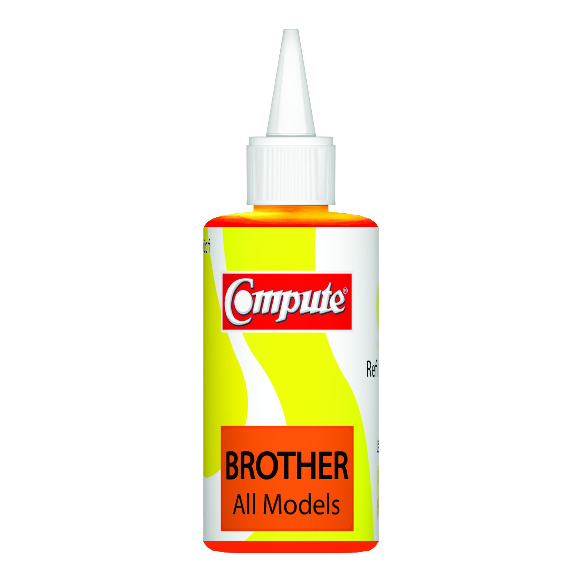 น้ำหมึกเติม (Refill Inkjet) คอมพิวท์ For BROTHER All model (Yellow)