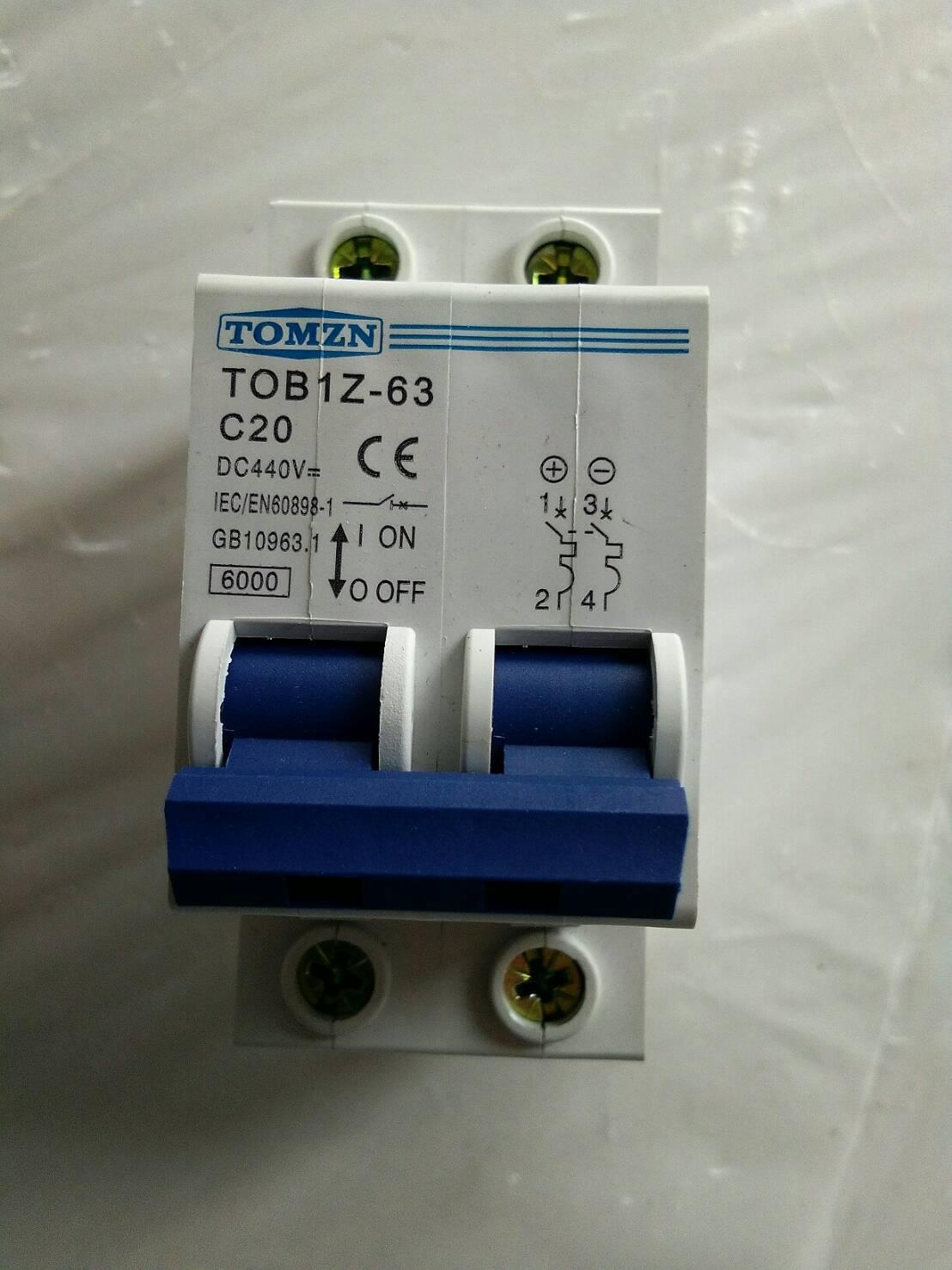 Breaker แบบ MCB DC ขนาด 20A 440V 2P (TMZ)