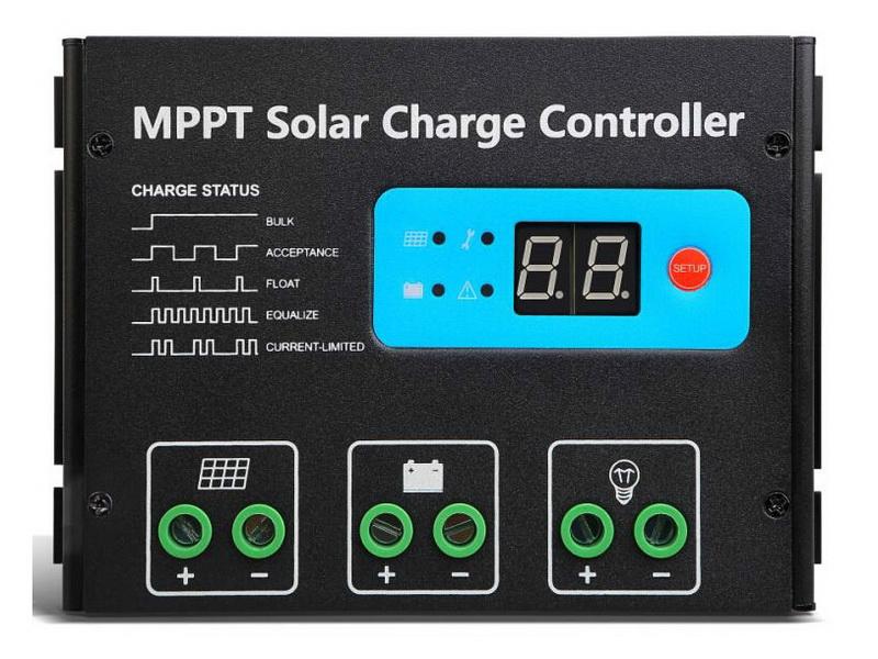 ตัวควบคุมการชาร์จแบตเตอรี่ แบบ MPPT ขนาด 20A 12/24V (Max Volt Input: 150V) SR-MT2420