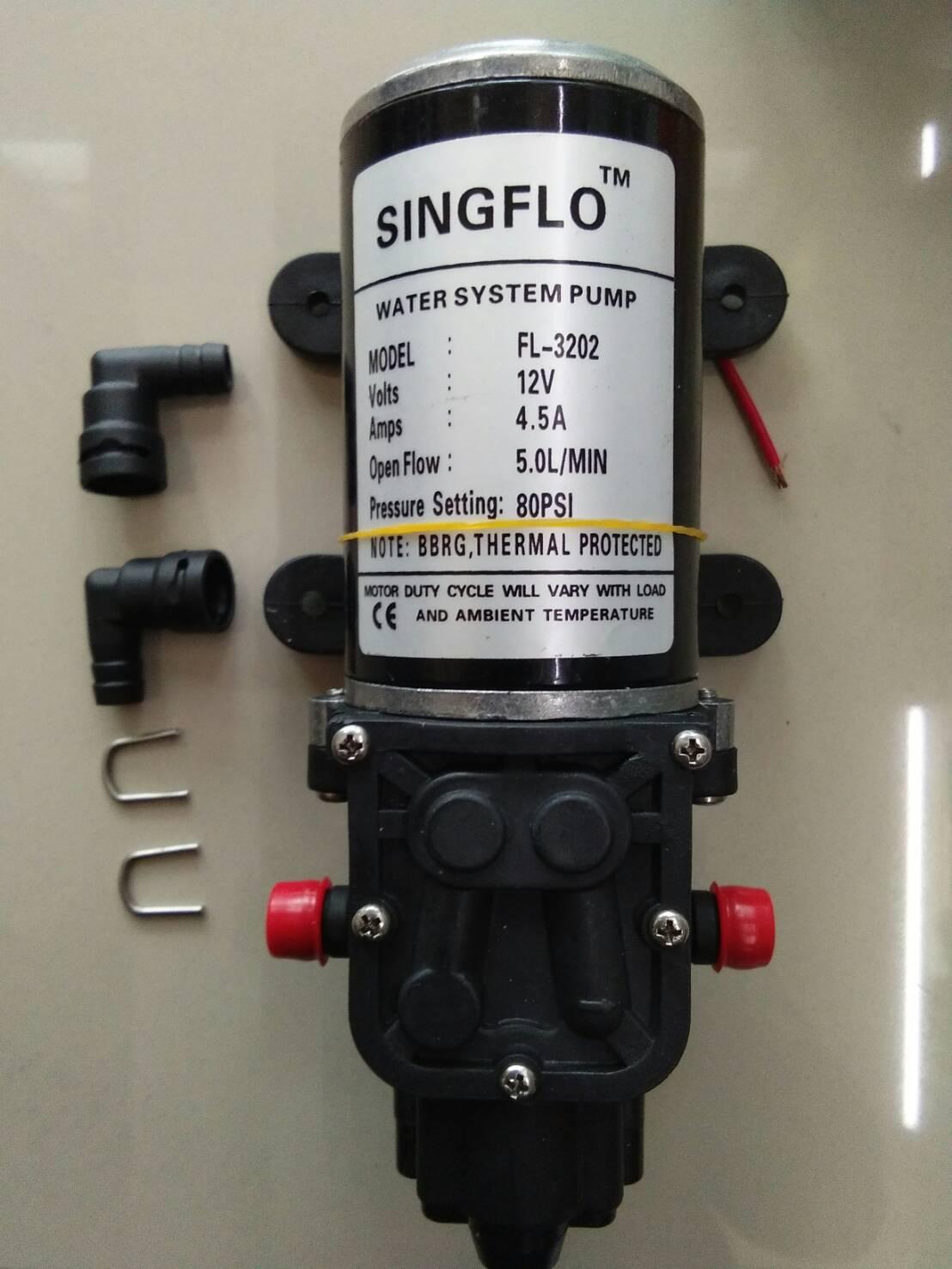 โซล่าปั๊ม ชนิดไดอะแฟรม (Diaphragm) ขนาด 5LPM 12VDC 4.5A 80PSI