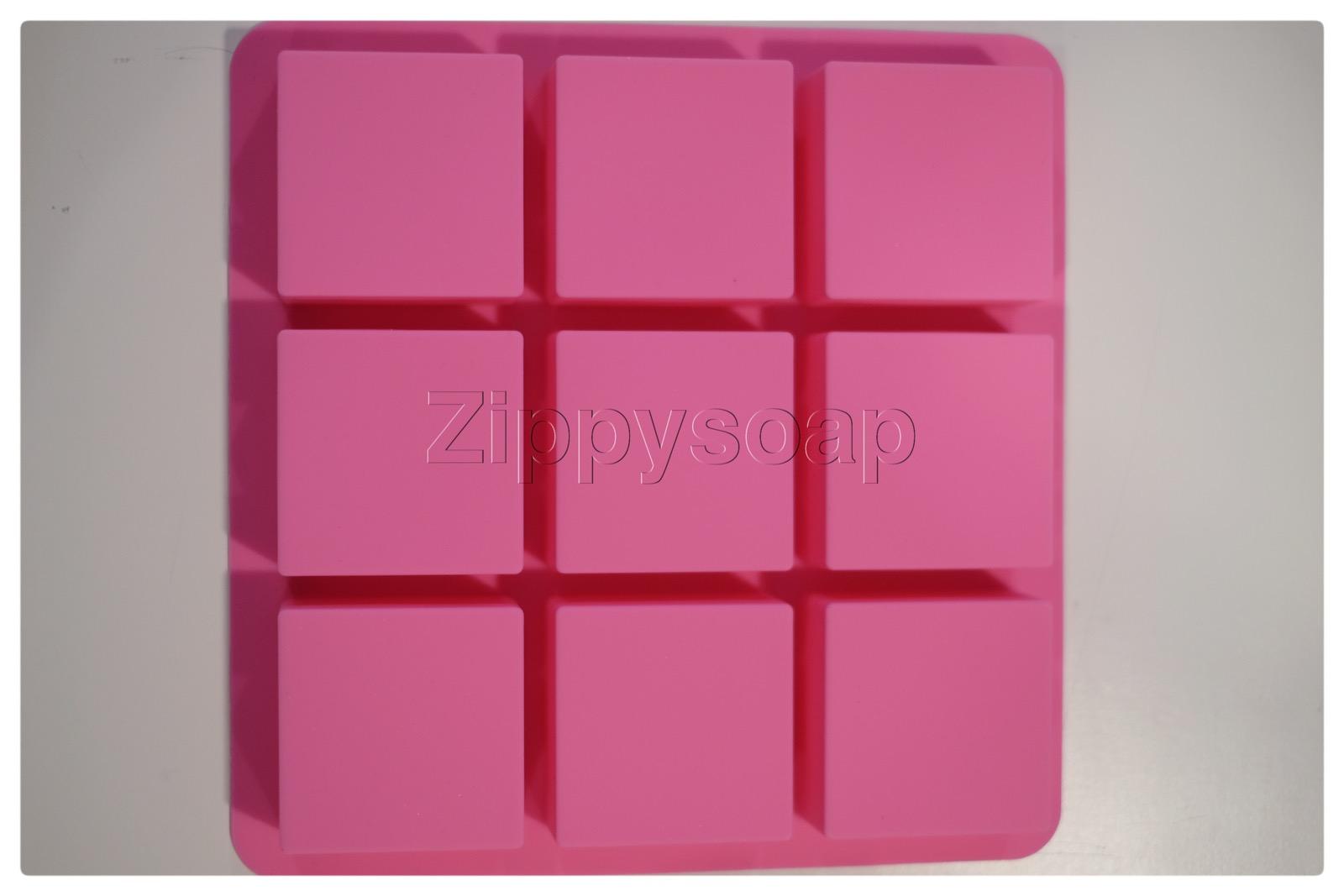 แม่พิมพ์ซิลิโคนรูปสี่เหลี่ยม 9 ช่อง 6*6*3